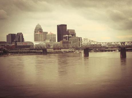My old Kentucky home :) (Louisville skyline from the Ohio River)