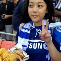 Jannie and her stadium food!